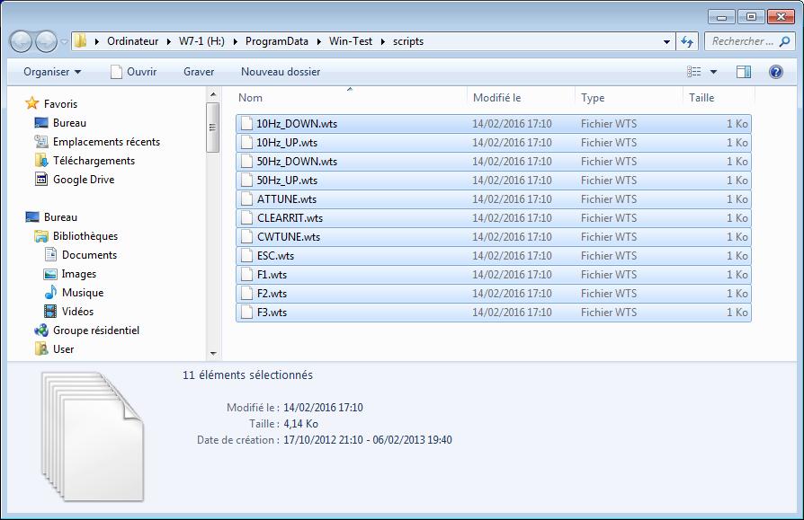 Fichiers de DK5TX dezippés