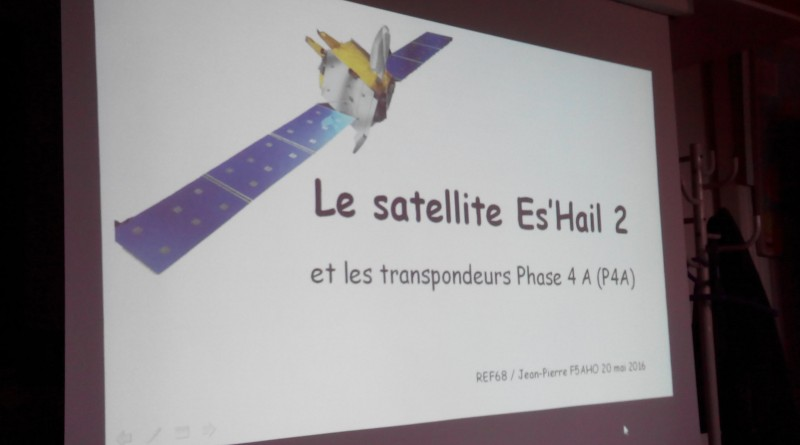 Soirée à thème de présentation du satellite géostationnaire Es Hail 2 et radioamateur AMSAT Phase 4A