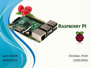 Présentation du Raspberry Pi par Christian, F5UII