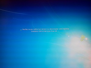 Mise à jour de Windows 7 après le premier redémarrage du PC