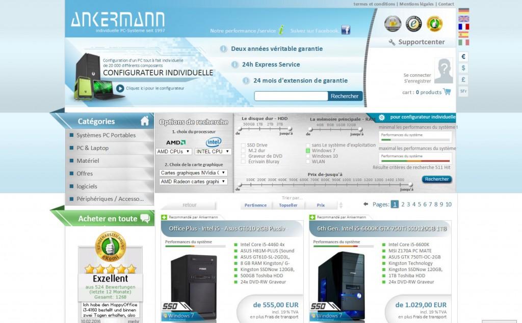 Boutique en ligne de Ankermann