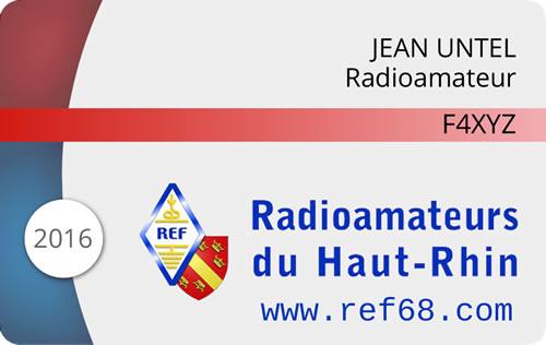 Carte membre REF 68