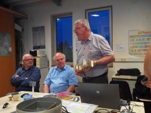 Jean Pierre F5AHO présente son récepteur 10 GHz