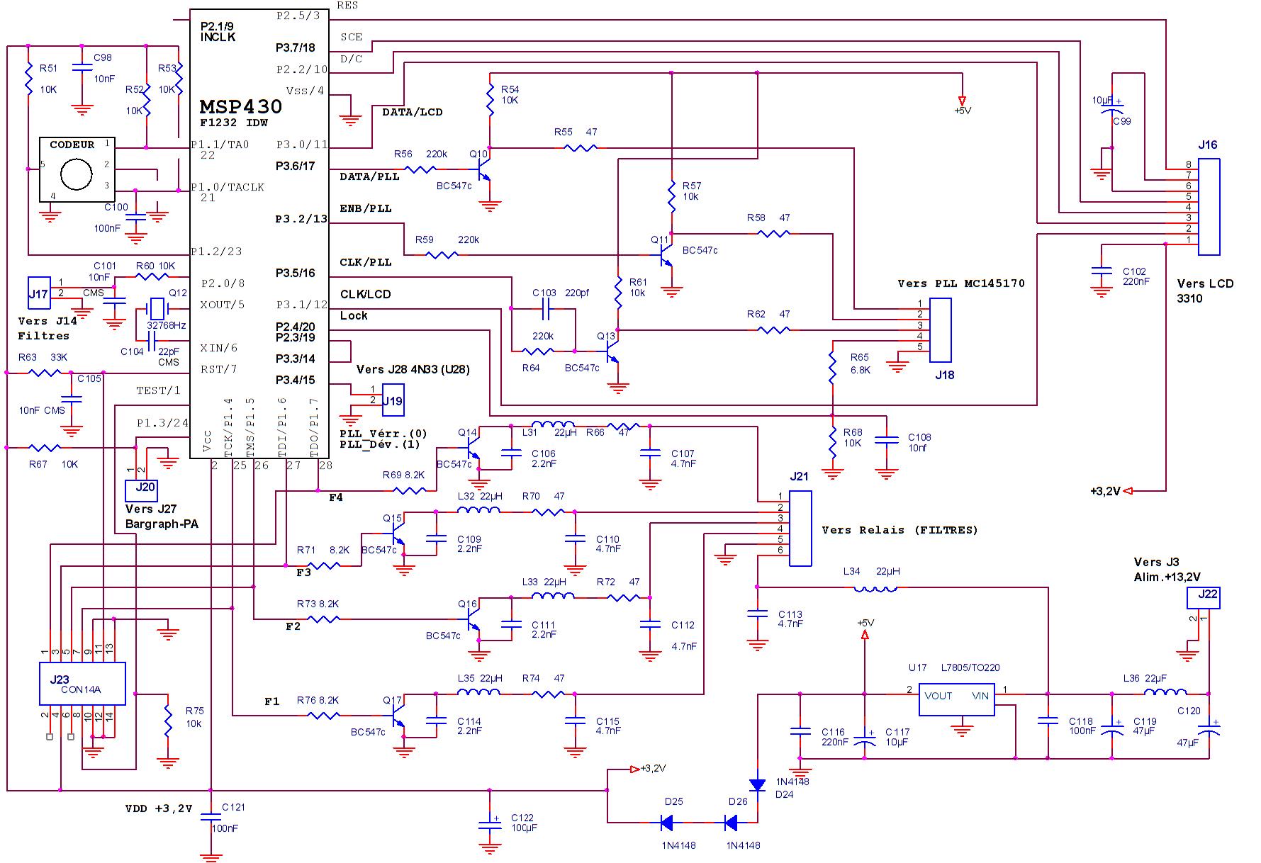 Fig.6 – Gestion par µ contrôleur MSP430F-1232-IDW