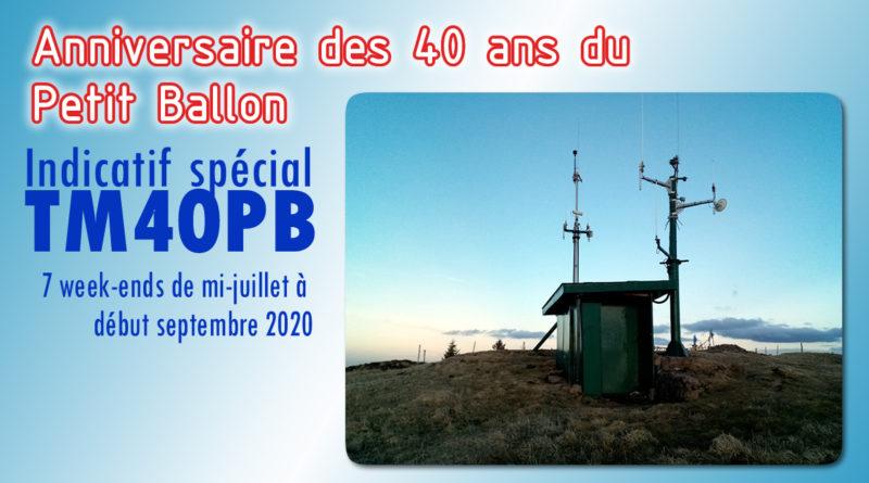 40 ème anniversaire du Petit Ballon : TM40PB