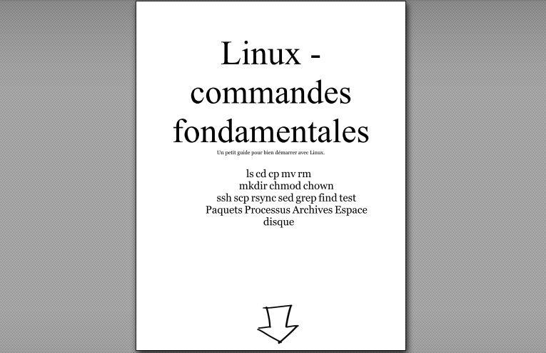 Mémento - Les commandes fondamentales de Linux